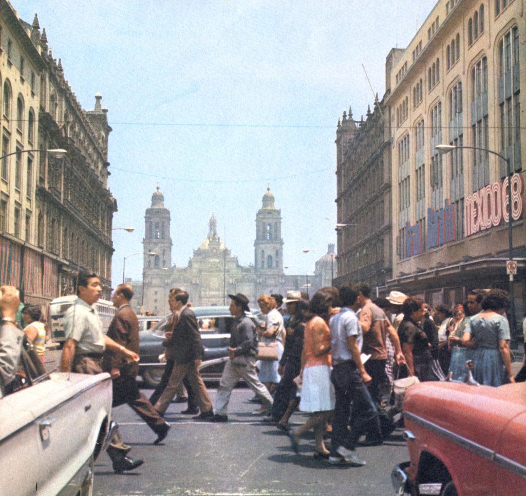 La Ciudad de México en el tiempo. Centro Histórico (1968) /